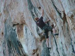 Rock Climbing Photo: nearing the crux