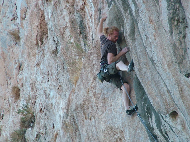 Rock Climbing Photo: Home free, just before the mantel.