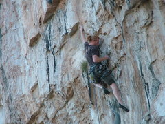 Rock Climbing Photo: pulling into the first hard move
