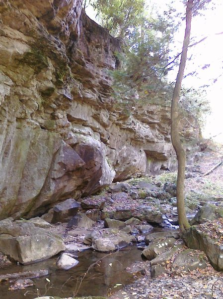 One of about 500 nice Crags in Tallmansville, WV.  The stone in the whole area is fairly brittle, but there are some nice routes here and there.  Don't make the drive (go to Seneca or Summersville!) but if you're in the area...