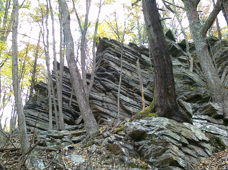 Left fork rocks in the Frederick watershed.