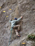 Rock Climbing Photo: Dan on the Crux