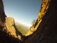 Rock Climbing Photo: The Walton Traverse, P3 of the Maiden North Face 5...