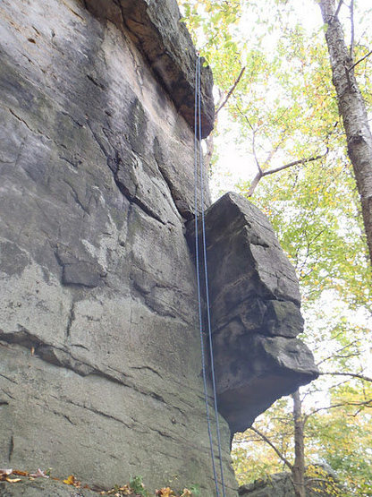 Rock Climbing Photo: This photo shows the top portion of the climb.  Th...