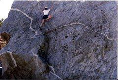 Rock Climbing Photo: Ski Hut boulder left. Circa 1984.