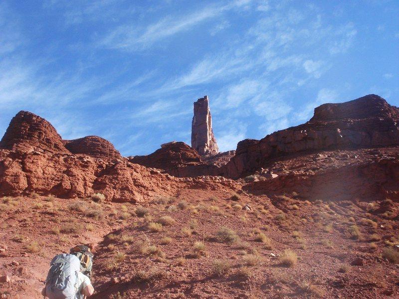 Rock Climbing Photo: Getting closer...
