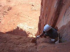 Rock Climbing Photo: Cliff finishing pitch 3.