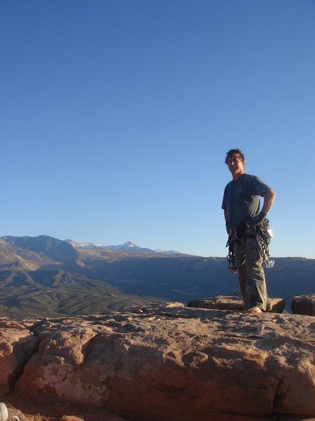 Rock Climbing Photo: Castleton summit.  La Sals in the distance.
