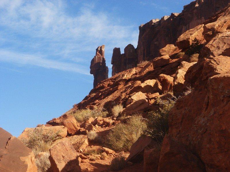 Rock Climbing Photo: The Priest.  Castle Valley, Utah.