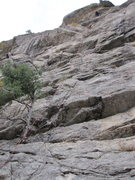 Rock Climbing Photo: Eagle Snacks route. The crux is mid-way with a &qu...