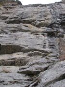 Rock Climbing Photo: Eagle Eyes route (center). Ascends a lieback seam ...