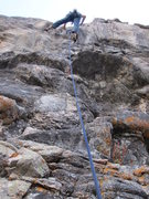 Rock Climbing Photo: Mark leading Eagle Hardware, after steep thin crac...