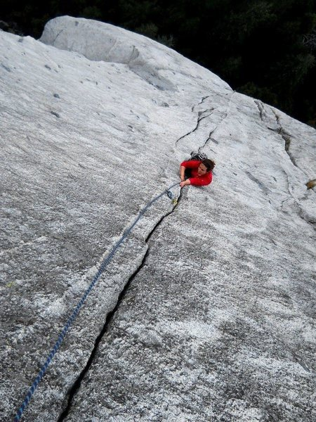 Rock Climbing Photo: Splitter fingers on pitch 5.