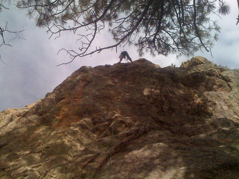 "Rock Climbing Photo: Kristina rigging the anchor at the top of ""An..."