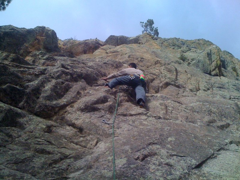 "Rock Climbing Photo: Me starting up ""Bevis""."