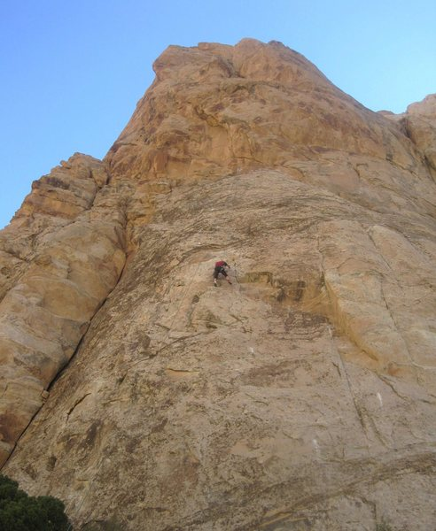 Rock Climbing Photo: Paul on route