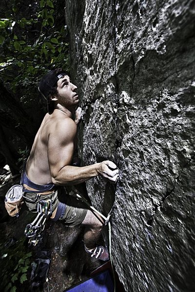 Rock Climbing Photo: stoked 5.11R white stone clif