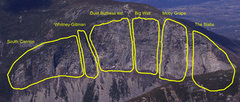 Rock Climbing Photo: This is the rough estimate of the areas i split ca...