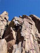 Rock Climbing Photo: Doug demonstrates the variation.  He kept saying &...
