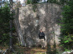 Rock Climbing Photo: One of the nice boulders out at Owl's Cliff. This ...