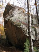 Rock Climbing Photo: The northern side of the Split Boulder