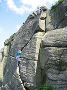 Rock Climbing Photo: Curving Crack at Bamford (photo by Phil Ashton)