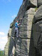 Rock Climbing Photo: The diagonal crack that slopes back right