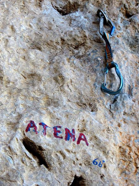 Rock Climbing Photo: Signage.