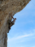 Rock Climbing Photo: Dionysos—steeper than you think. Dionysos—BETTER...