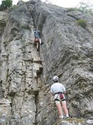 Rock Climbing Photo: A classic line up a steep corner (photo by Phil As...