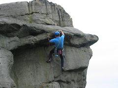 Rock Climbing Photo: Starting the overhang