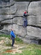 Rock Climbing Photo: Starting Bird's Nest Crack (photo by Phil Ashton)