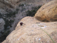 Rock Climbing Photo: Just below the last hard section.
