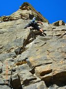 Rock Climbing Photo: First pitch, touchy crux.