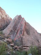 Rock Climbing Photo: Tip Toe Treat. Right line
