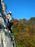 Rock Climbing Photo: Topping out on the Changling