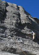 Rock Climbing Photo: Fritz leading Pure Pleasure.