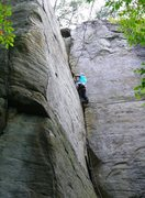 Rock Climbing Photo: New river 5.8ichhhhhh