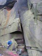 Rock Climbing Photo: The initial slot on Delilah (photo by Phil Ashton)
