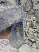 Rock Climbing Photo: Abseiling down Delilah to retrieve gear (photo by ...