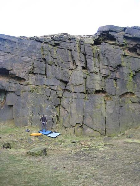 Part of the quarried section of Pule Hill