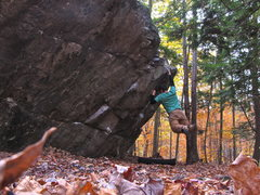 Rock Climbing Photo: Self portrait of the foot cutting crux.