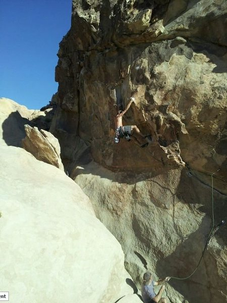 Rock Climbing Photo: Keenan Herbon leading Eileen Dover 10.23.2011. Gre...