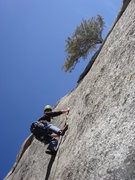 Rock Climbing Photo: P5 - Gritty slab with thin crack for pro!