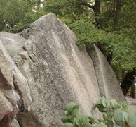 Rock Climbing Photo: Location Beta. Bottom of Ament Arete is visible as...