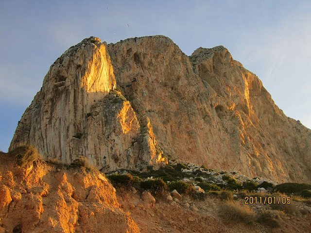 Rock Climbing Photo: The pinnacle of rock is almost completely surround...