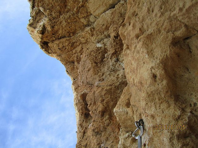 Rock Climbing Photo: Crux pitch, is a little steep.