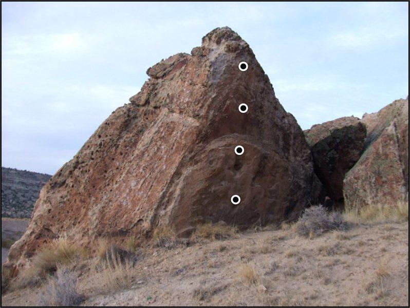 Rock Climbing Photo: In Vogue problem on the Vogue Boulder.