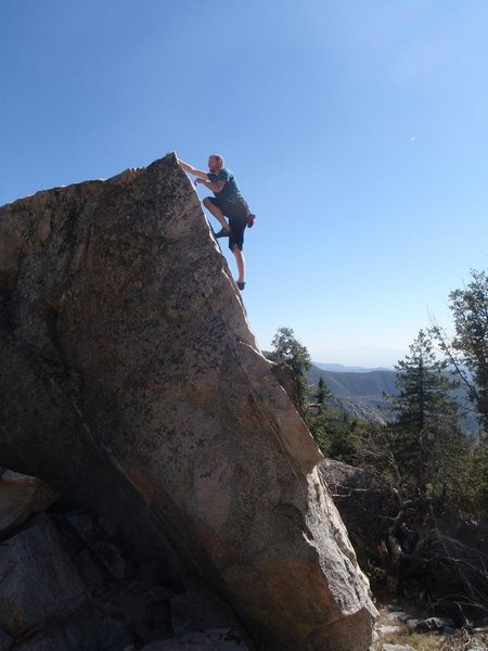 Rock Climbing Photo: Taco on The Fett Arete