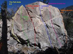 Rock Climbing Photo: Big Boulder Topo